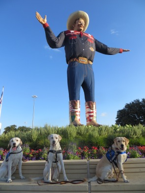 Nick, Electra, and Doug, with Big Tex